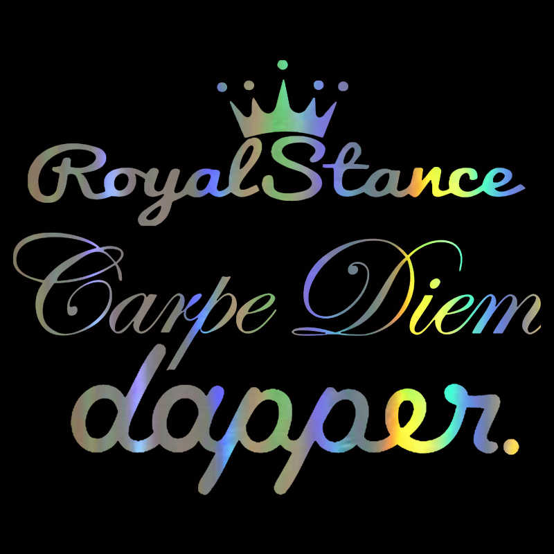 Hungmieh 58*12.5Cm Carpe Diem Royal Stance Dapper Auto Stickers Grappige Sticker Op Auto Vinyl Decal Auto Stickers voor Auto Styling