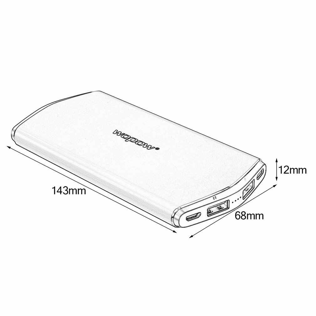 8000mAh 高容量携帯 PowerS8 デュアル USB 出力ポータブル外部バッテリーパック超薄型 Android 用アップル