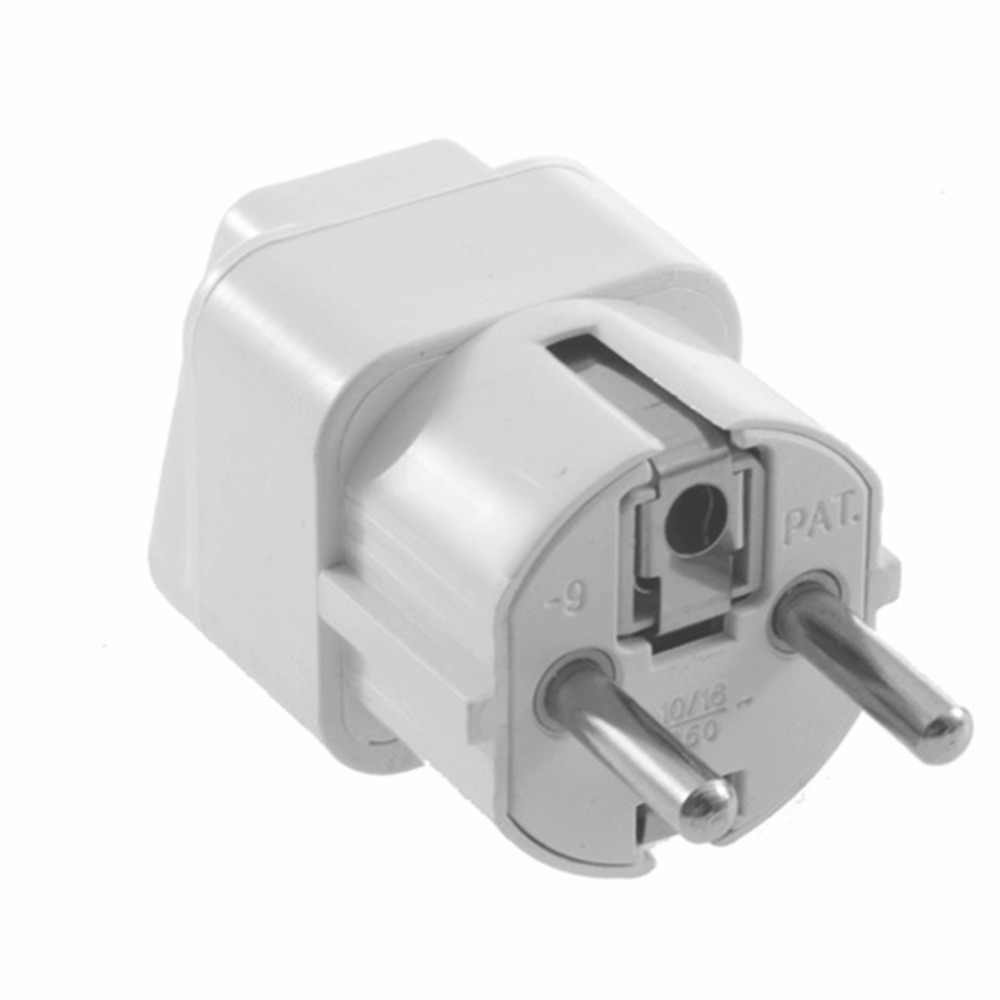 1pc / 3Pcs Universal Travel Adapter US AU UK to EU Plug Travel Wall AC Power Adapter 250V 10A Socket Converter White C1 hot new