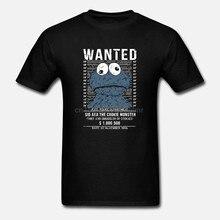 Lustiges Hipster Nerd Camisa Herren T-Shirt mit Wanted Cookie Monster-Forma