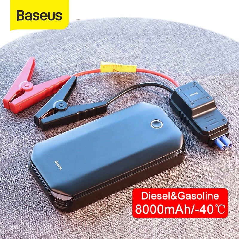 BASEUS Melompat Starter Mobil Mulai Perangkat Power Bank 800A Jumpstarter Auto Buster Booster Darurat Mobil Jump Start