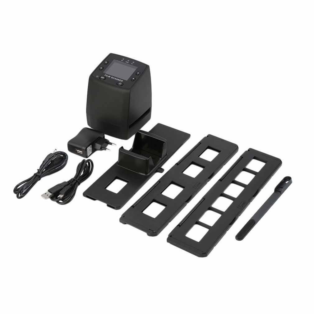 Taşınabilir negatif Film tarayıcı 35mm slayt görüntüleyici tarayıcı USB  dijital renkli fotoğraf tarayıcı slayt Film dönüştürücü 2.4