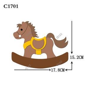 Image 4 - Nuovo cavallo di Legno die Scrapbooking C 301 4 Fustelle Compatibile con la maggior parte dei morire macchine da taglio