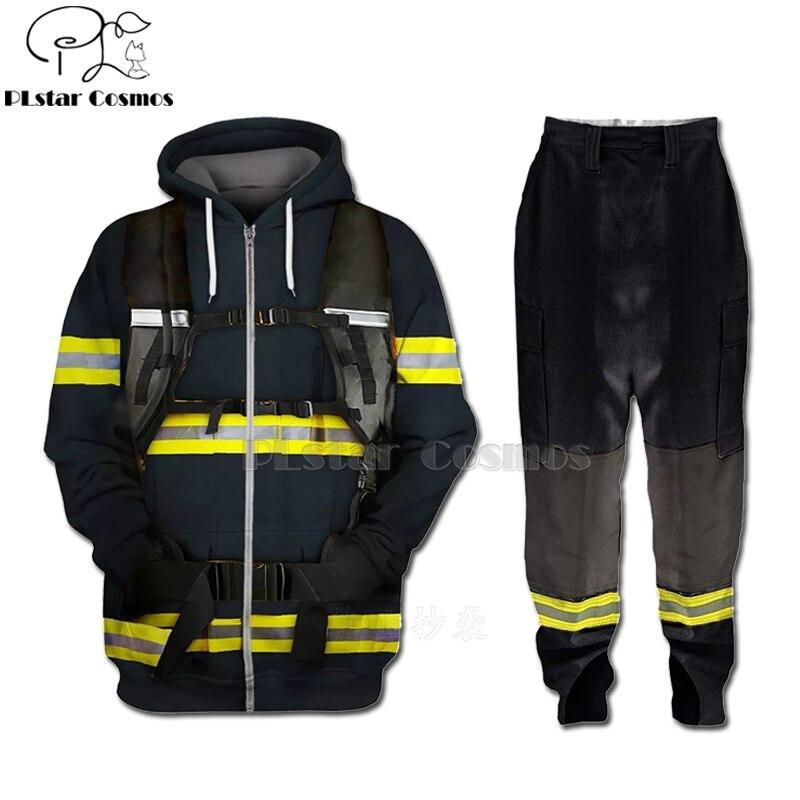PLstar Cosmos 3D Print Firefighter Suit Fireman Cosplay Hoodies /Tops Match Pants/Shorts Men/Women Party Suit Men Streetwear-1
