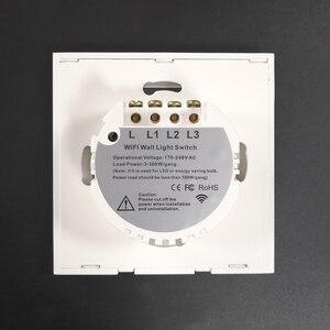 Image 2 - 1/2/3 갱 단방향 tuya wifi 스마트 스위치 벽 조명 스위치 중립 와이어없이 응용 프로그램에 대 한 wifi 단일 라이브 라인