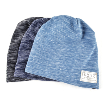 NUZADA Solid Color Winter Hats For Men Women Skullies Beanie Hedging Cap Knitted Caps Cotton