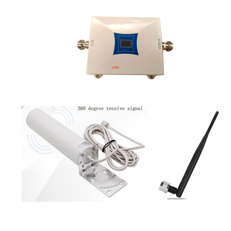 VOTK 3G Repeater W-CDMA 2100MHz Cell Phone 3G Signal Booster UMTS Mobile Phone 3G Signal Amplifier With Omni Atnenna