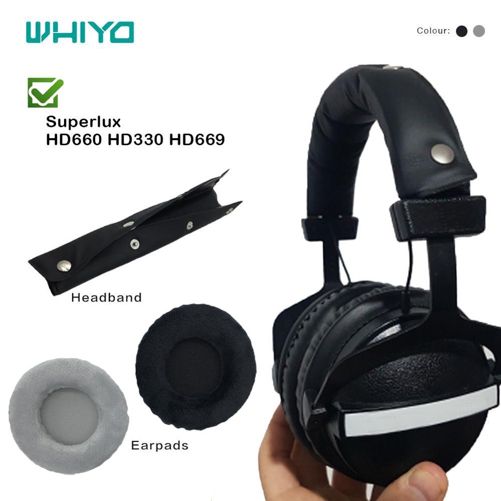 Whiyo macio veludo substituição earpads bandana para superlux hd330 hd662 hd662b hd660 hd668b hd669 hd681 evo hd681b pára-choques almofadas