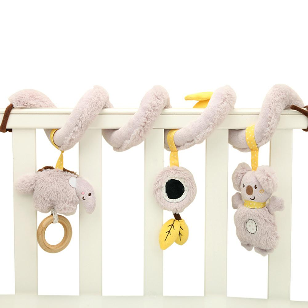 Kidlove Baby Plush Rattle Toy Music Box For Crib Spiral Hanging Infant Stroller Bed