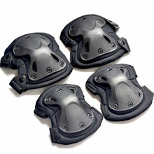 цена на Military US Army Tactical Paintball Airsoft Hunting Protection War Game Knee And Elbow Protector Knee Pads Elbow Pads Set Black
