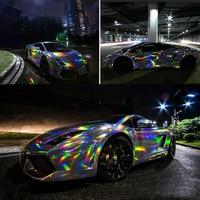 3M/5M/10M Holographic Chrome Rainbow Car Stickers Laser Plating Car Body Wrap Vinyl Film Automobiles Decor Sticker Films