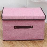 Large Capacity Storage Cubes Linen Fabric Foldable Purple/Blue/Pink Storage Home Cube Bin Organizer
