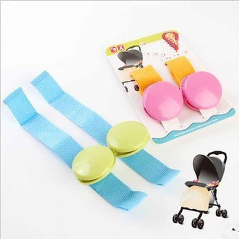 2 ชิ้น/ล็อตร้อนขายอุปกรณ์เสริมสำหรับรถเข็นเด็กทารกที่ละเอียดอ่อน Glossy Multicolour Anti Tipi คลิปคลิปผ้าห่มสำหรับทารก Playpen Buggy