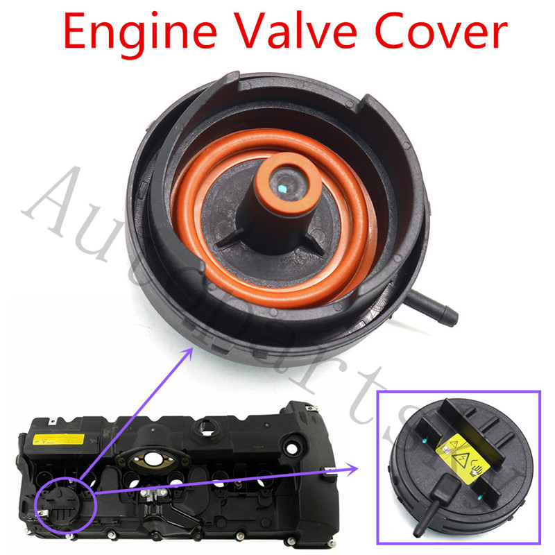 For BMW E82 E90 E70 Z4 X3 X5 128i 328i 528i PCV Cover Of N52 Engine Valve Cover OE: 11127552281 11-12-7-552-281 11 12 7 552 281
