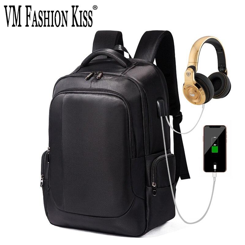 2019 nouveau sac à dos étanche hommes sac à ordinateur portable Mochilas Feminina USB charge grande capacité d'affaires voyage sac à dos Bookbag