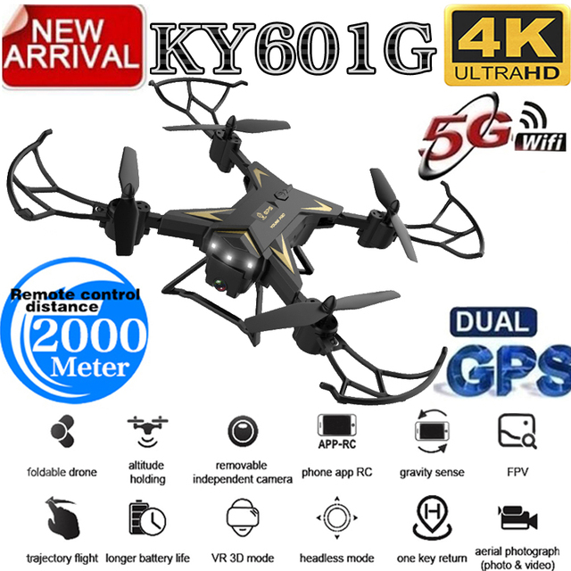 Nicce New Arrival GPS KY601G Drone Quadcopter 2000 Meters Control Distance RC Helicopter Drone with 5G 4K HD Camera KY601S 1