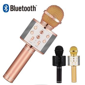 Profesjonalny bezprzewodowy mikrofon Bluetooth głośnik mikrofon ręczny mikrofon Karaoke odtwarzacz muzyczny rejestrator śpiewu KTV mikrofon tanie i dobre opinie WAPUNO Mikrofon pojemnościowy Mikrofon komputerowy Wielu Mikrofon Zestawy Dookólna wireless Microphone Speaker Bluetooth Microphone