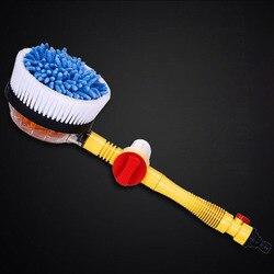 Narzędzia automatyczny obrót wysokociśnieniowy przełącznik szczotki do czyszczenia pianki myjnia Spray samochodowy okrągła głowica wodna w Szczotki do czyszczenia od Dom i ogród na