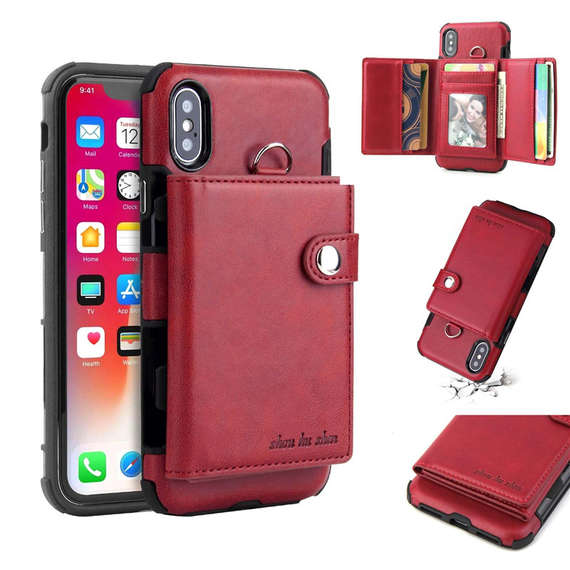 H81f93a11119b4b479f0c7a4837b8dde5A Tikitaka Wallet Leather Phone Case For iPhone 6 6s Plus X XS XR Multifunction Card Slots Flip Cover For iPhone XS MAX 8 8 Plus
