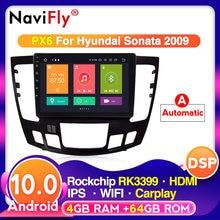 Radio con GPS para coche, reproductor Multimedia con Android 10, 4G, LTE, 4 GB + 64 GB, 9 pulgadas, Navi, para Hyundai Sonata, Manual, A/C, 2DIN, 2009