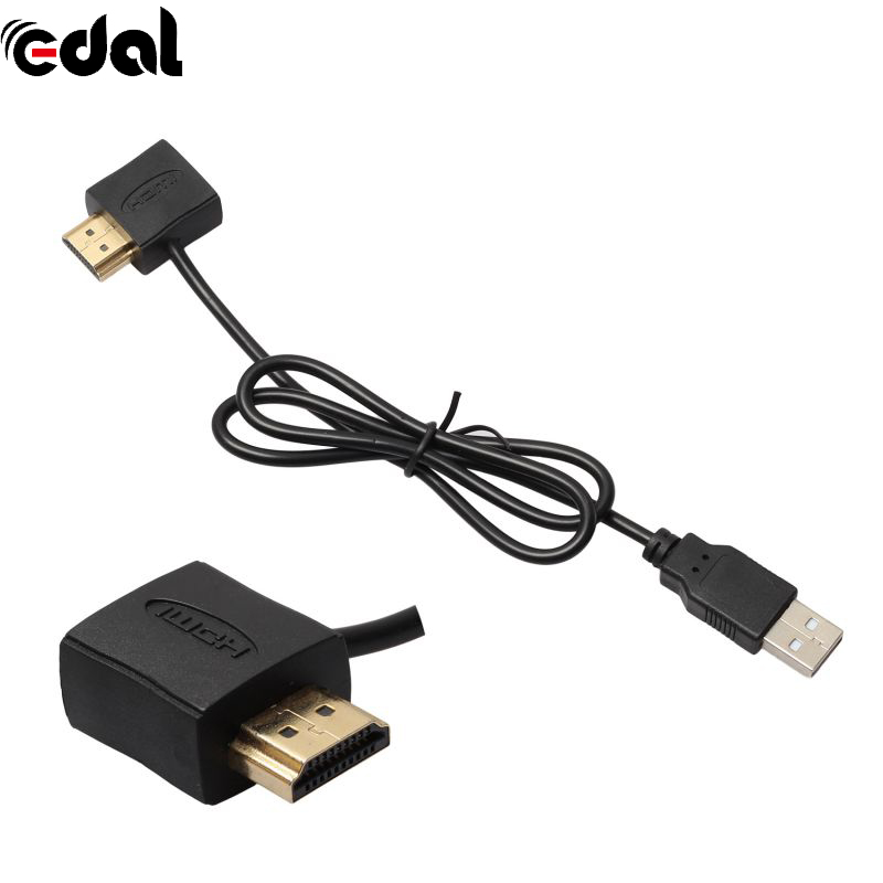 <font><b>HDMI</b></font> Convertor + USB 2.0 Male Charger Cable Splitter Adapter Male To Female <font><b>50cm</b></font> <font><b>HDMI</b></font> Cable image