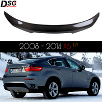 For BMW X6 E71 2008 2014 Carbon Rear Trunk Wings Spoiler