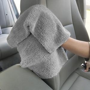 Image 3 - 6PCS 500GSM ULTRA หนา Edgeless ผ้าขนหนูไมโครไฟเบอร์ผ้าทำความสะอาดรถยนต์ล้าง Waxing Polishing ผ้าขนหนูสีฟ้าสีเทา