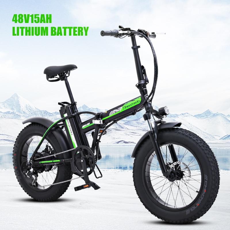 Bicicleta elétrica 48v bicicleta elétrica 4.0 pneu gordo bicicleta elétrica poderosa pneu gordo ebike praia cruiser impulsionador bicicleta elétrica