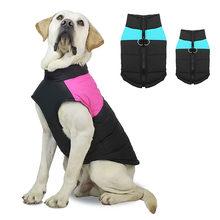 S-5XL à prova dwaterproof água grande cão casaco casaco inverno quente roupas para animais de estimação pequenos cães grandes bulldog francês pug roupas roupas filhote de cachorro trajes