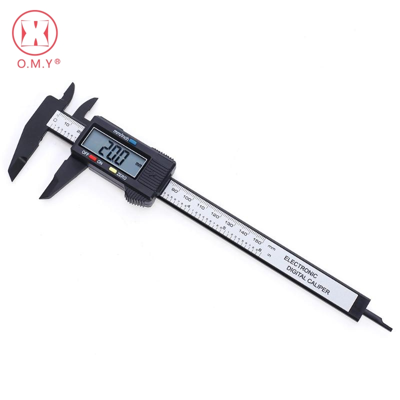 O.M.Y 0 1pcs Ferramenta de Medição-150 milímetros 6 Polegada Plástico LCD Eletrônico Vernier Paquímetro Digital De Fibra De Carbono bitola Micrômetro