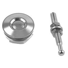 4 Pcs Push Button Bumper Clip Aluminium Alloy Easy Install 6cm Car Mini Bonnet Lock Universal Hood Pin Racing Latches