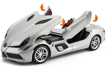 1/24 Mercedes-Benz SLR Alloy Car Model Original Packaging Free Shipping Luxury Car Sports Car Model kid's Toy Car Sound Light 1set j261 stainless steel sheet model car with 4 n20 gear motor diy model car chassis frame free shipping russia australia