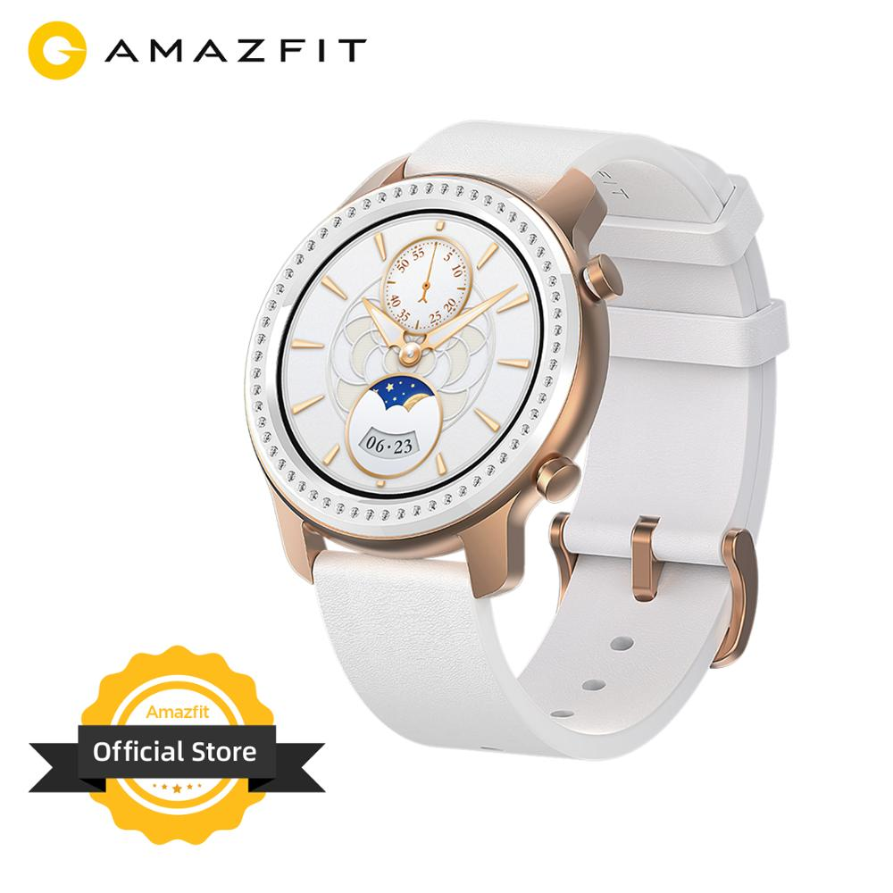 Amazfit Music-Control Glitter-Edition Smart-Watch 12-Days-Battery 42mm Android for Ios-Phone
