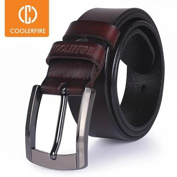 Mężczyźni wysokiej jakości pasek z prawdziwej skóry luksusowy projektant pasy mężczyźni cowskin modny pasek męskie dżinsy dla człowieka cowboy darmowa wysyłka tanie i dobre opinie CCOOLERFIRE Dla dorosłych CN (pochodzenie) 3 7cm Moda Stałe HQ036 5 3cm Black leather belt Brown leather belt 120cm 125cm 130cm 135cm