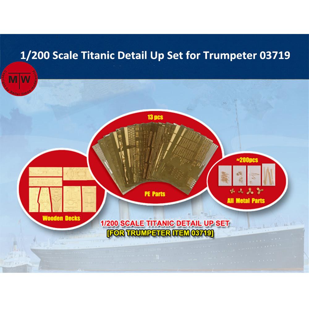 <font><b>Trumpeter</b></font> 66600 1/200 Scale Titanic Detail Up Set for <font><b>Trumpeter</b></font> 03719 Model Kits image
