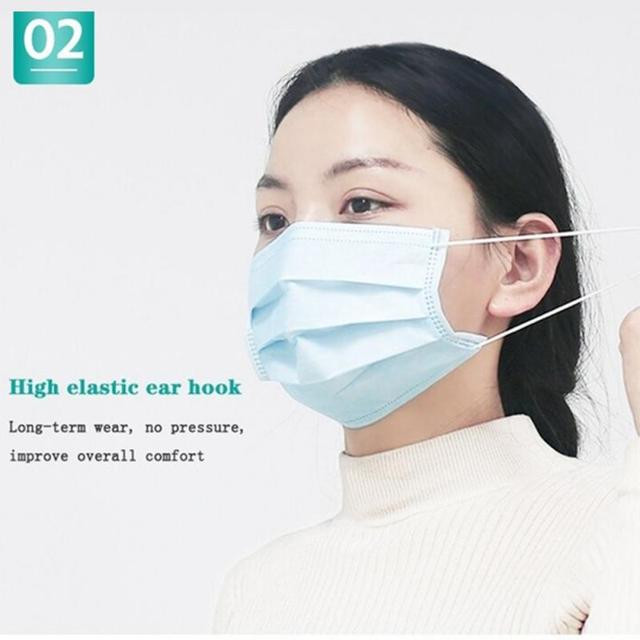 50 pieces wholesale disposable 3 layer protective mask windproof dustproof mask antibacterial anti flu mask care 1