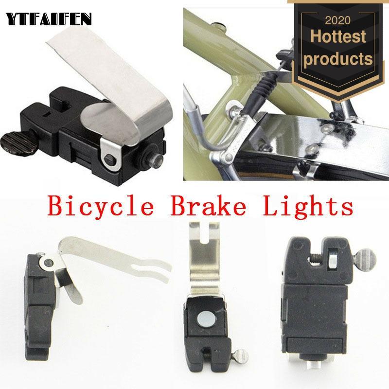 Bicycle V-brake Brake Lights Road Bike Accessories Riding Equipment Cycling Spoke Light Flashing Blinking Round Battery