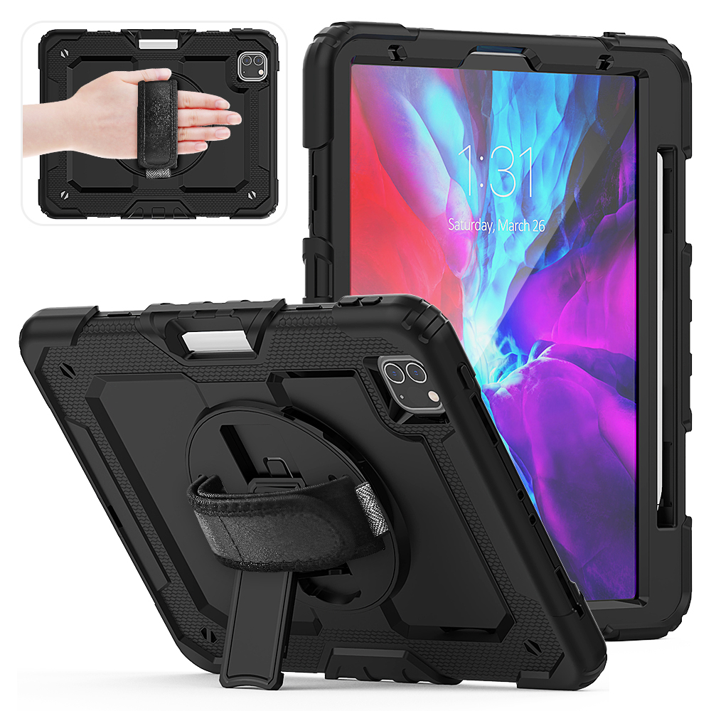 Black Black 2020 iPad Pro Case For 2018 iPad Pro 12 9 inch Case With Pencil Holder Cover
