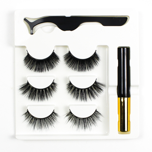 Grafting World Magnetic Eyeliner and Eyelash skit with Tweezer and Applicator Water Proof and Wind Proof 1