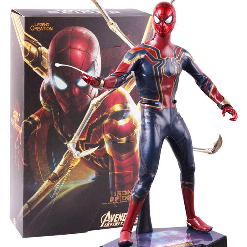 Hot Toys Avengers Infinity War Besi Laba-laba Spiderman Peter Parker PVC Spider-Man Action Figure Collectible Model Mainan