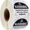 Черный и Белый очаровательны Предупреждение Sricker этикетки Экстрим счастье этикетки для Бизнес подарок упаковочный конверт наклейки 500 шт
