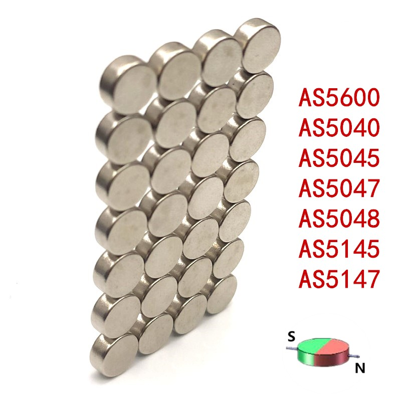 20 шт./лот Магнитный энкодер магнит радиальной включает в себя Магнитный неодимовый магнит Поддержка AS5600 AS5040 AS5045 AS5047 AS5048 AS5145 AS5147 серии