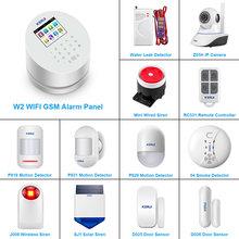 KERUI – système d'alarme de sécurité domestique W2, wi-fi, GSM, panneau tactile 2.4