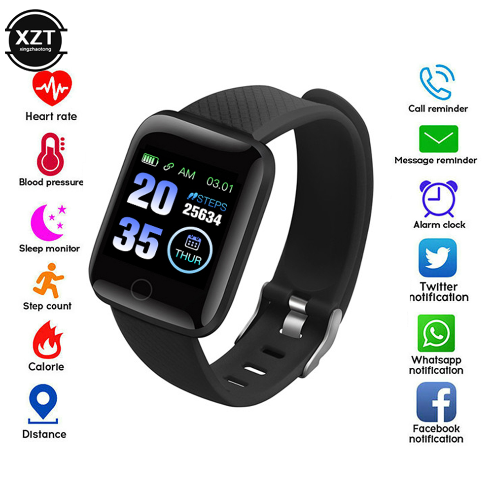 Instock SmartWatch 116 Plus Wristband Fitness Blood Pressure Heart Rate Android Pedometer D13 Waterproof Sports Smart Watch Band
