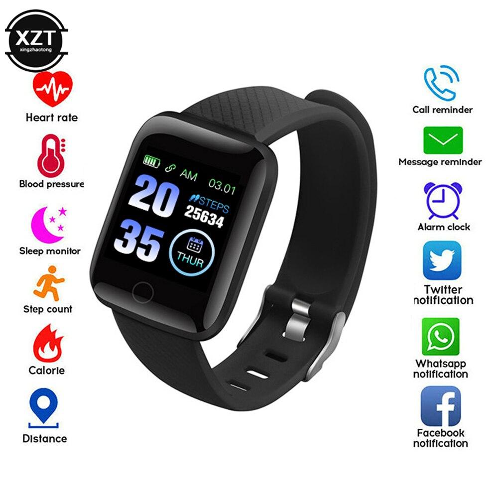 SmartWatch 116 Plus, браслет, фитнес, артериальное давление, частота сердечных сокращений, Android, шагомер D13, водонепроницаемый, спортивный, Смарт часы, ремешок|Смарт-часы|   | АлиЭкспресс