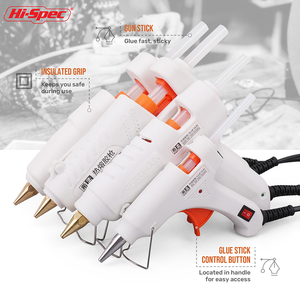 Hi-Spec 40W 80W 100W 120W 150W EU/ Plug Hot Melt Glue Gun 7mm Glue Stick Industrial Mini Guns Adhesive Woodworking Tool(China)