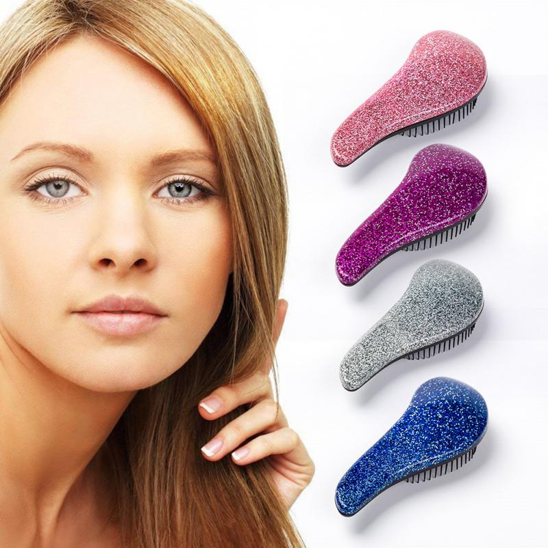 Tangle Detangling Comb Hair Brush Comb Bling Glitter Magic Handle Shower Hair Care Comb For Travel Soft Styling Tool TSLM1