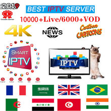 Premium IP TV Subscription IPTV Spain M3u 1 Year With 10000 Live TV French Italy VOD Movies channels List IPTV Serve(China)