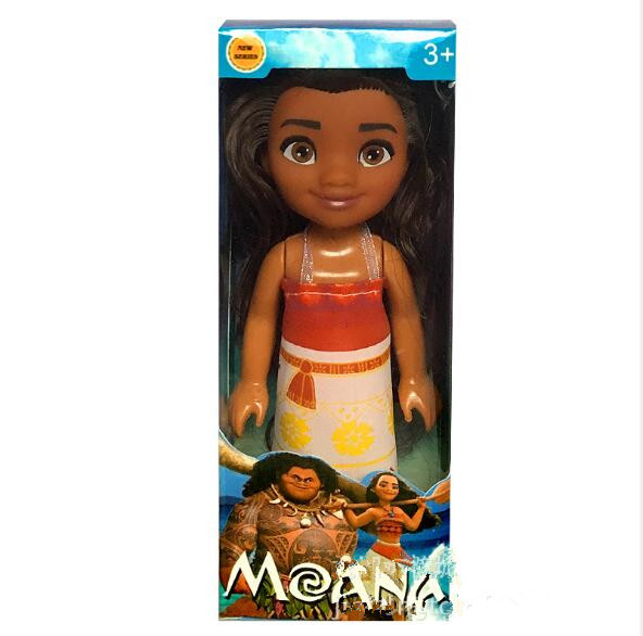 One Fashion Doll 6 Inch Action Figures Girls Gifts Movie Princess Moana Doll Pendant Anime Collection Moana Figures Toys In Box