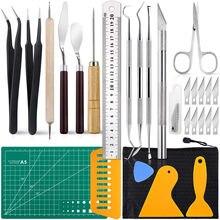 28 stücke Präzision Handwerk Werkzeuge Vinyl Jäten Werkzeuge Kit Für Jäten Silhouetten Cameos Sammelalbum Kunst Arbeit Schneiden Hobby Scrapbooking